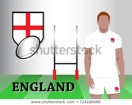 Rugby Team English Sports Players on Field Vector Stock photo © robuart