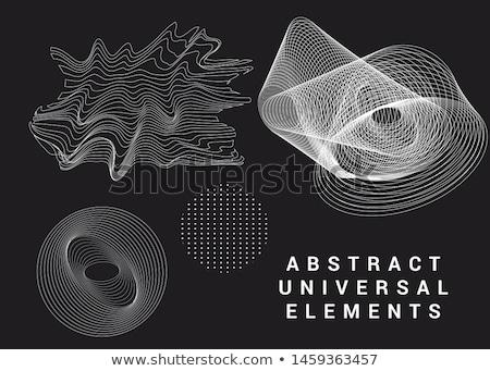 Digitalen Vektor Farbe geometrischen universal Muster Stock foto © frimufilms