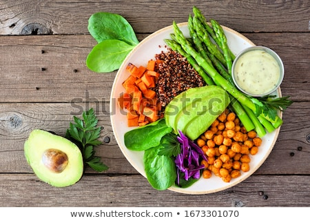 buddha bowl on a wooden table Stock photo © nito