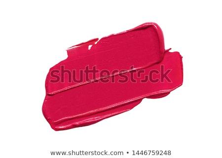 Kozmetika smink trendek fényes rúzs ajkak Stock fotó © serdechny
