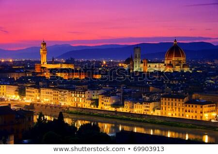 ストックフォト: Palazzo Vecchio In Evening Florence Italy