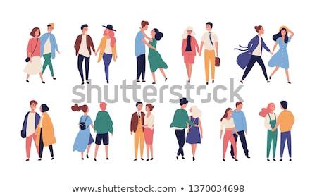 család · boldog · arcok · szett · vektor · emberek - stock fotó © robuart