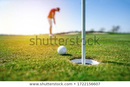 Golfer on fairway in evening. stock photo © lichtmeister