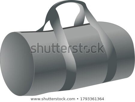 Cylindrical Sport Luggage Bag Color Vector Stock photo © pikepicture