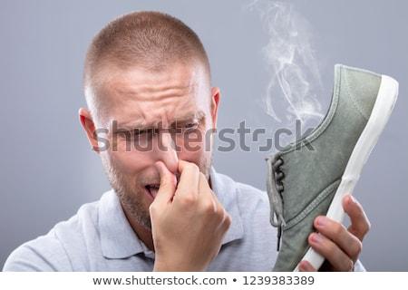Uomo naso scarpa primo piano giovane Foto d'archivio © AndreyPopov