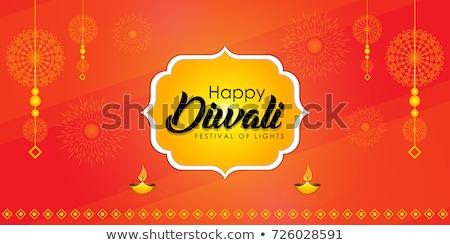 decorative diya lamps decoration for diwali festival Stock photo © SArts