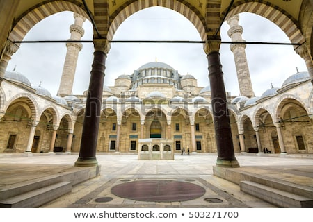 kilátás · mecset · Isztambul · Törökország · bent · épület - stock fotó © boggy