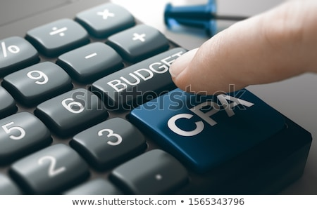 Marketing campagne kosten acquisitie calculator Stockfoto © olivier_le_moal