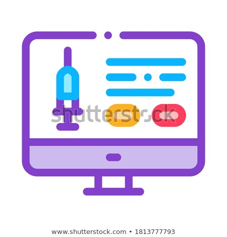 Injection Computer Application Icon Vector Outline Illustration Stock photo © pikepicture