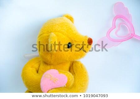 幸せ バレンタインデー 飛行 赤 ピンク 白 ストックフォト © olehsvetiukha