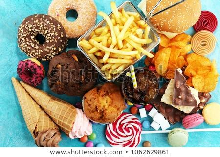 Ongezond producten hoog suiker eenvoudige koolhydraten Stockfoto © furmanphoto