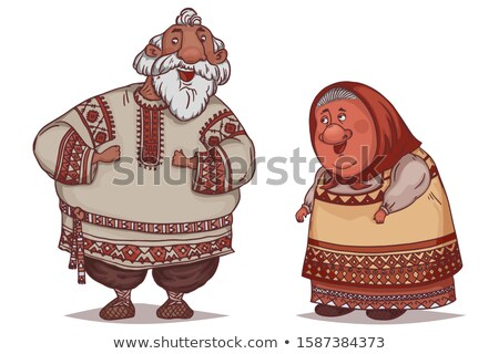 Happy couple dressed in historic costumes Stock photo © rcarner