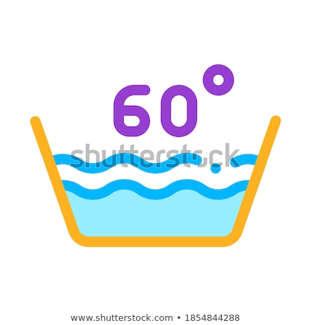 Laundry Sixty Degrees Celsius Vector Line Icon Stock photo © pikepicture