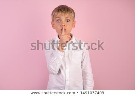 Portret knap ernstig modieus mannelijke vrede Stockfoto © vkstudio