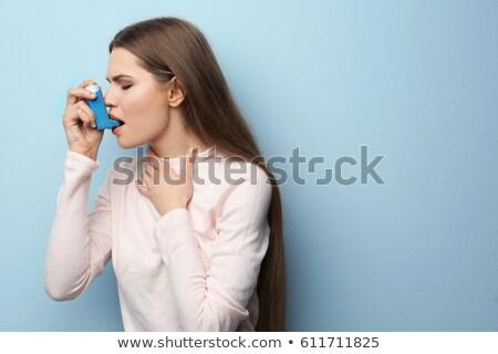 девушки астма дерево небе назад Сток-фото © Lopolo