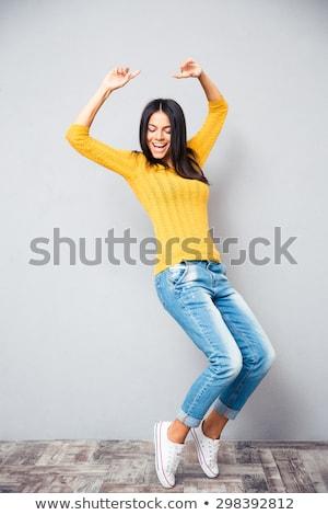 полный · энергии · женщину · танцовщицы · вид · сбоку · кричали - Сток-фото © rcarner