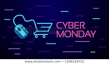 Computer Shopping Cart Neon Sign Stock photo © Anna_leni