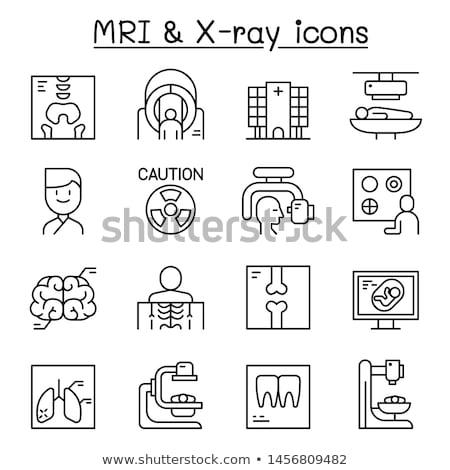 Osso raio x ícone vetor ilustração Foto stock © pikepicture