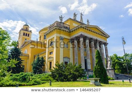 Katedral bazilika Macaristan görmek kale tepe Stok fotoğraf © borisb17