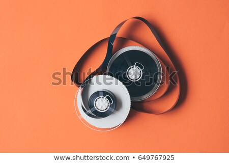 Stock photo: orange film reel