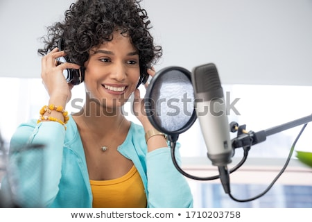 Black podcast Stock photo © cidepix