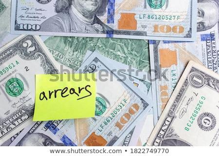 Dollaro carta da lettere bianco business contanti nota Foto d'archivio © devon