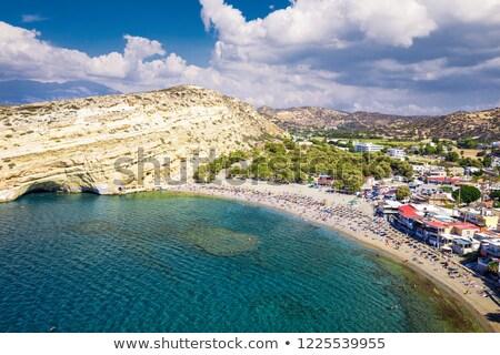 View of Matala bay on Crete Stock photo © duoduo