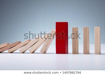 rij · oude · business · hout · speelgoed · witte - stockfoto © backyardproductions