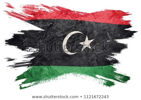 Гранж флаг Ливия старые Vintage гранж текстур Сток-фото © HypnoCreative