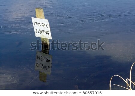 Private fishing sign Stock photo © ndjohnston