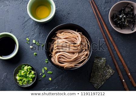 tazón · mesa · chino · sopa · tradicional · cuchara - foto stock © cozyta