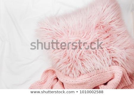 vánkos · hátterek · vágási · körvonal · puha · bőr · fehér - stock fotó © marylooo