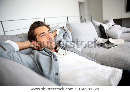 Man laid on a couch Stock photo © photography33