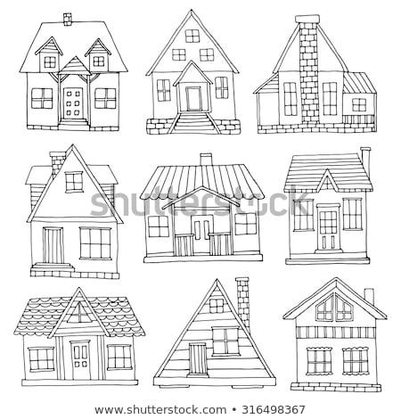 gebouwen · illustratie · huizen · huis · boom - stockfoto © kariiika
