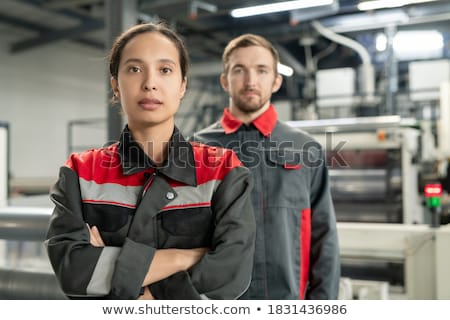 a female manual worker standing with crossed arms stock photo © photography33