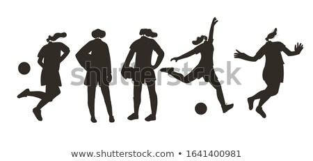 Athlettes silhouettes set Stock photo © Kaludov