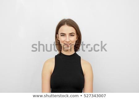Foto stock: Furioso · mujer · de · negocios · aislado · blanco · cara