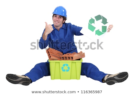 Tradesman promoting recycling in the world Stock photo © photography33
