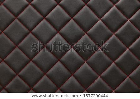 Primer plano cuero patrón rojo puntada grande Foto stock © Arsgera