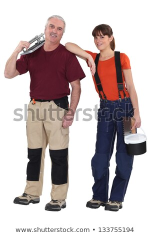 portrait of experienced craftsman and female apprentice Stock photo © photography33