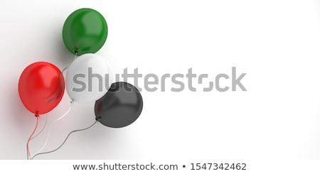флаг · Иордания · черно · белые · зеленый · горизонтальный - Сток-фото © perysty
