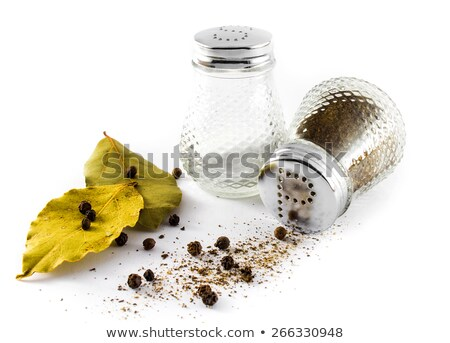 salt and pepper and bay leaves  Stock photo © marylooo