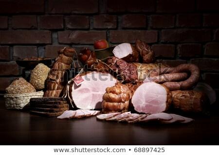különböző · hús · izolált · fehér · közelkép · étel - stock fotó © shutswis
