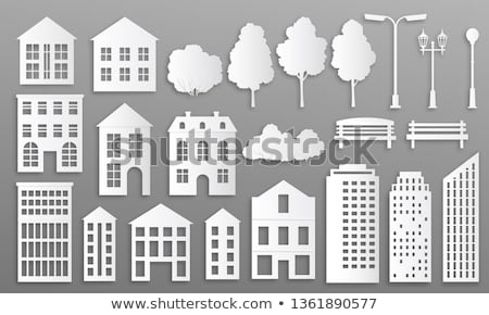 Papier huizen huis stad home achtergrond Stockfoto © djemphoto