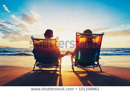 casal · grama · homem · mulher · mentir - foto stock © photography33