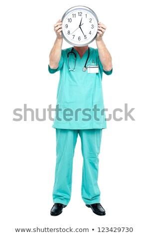 relógio · prescrição · saúde · medicina - foto stock © stockyimages