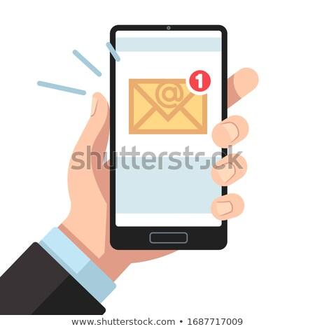 Postaláda okostelefon mutat email bejövő üzenetek online Stock fotó © stuartmiles