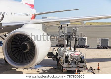 Jato motor laranja pronto alto avião Foto stock © ozgur