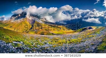 Magas völgy légifelvétel nyár út természet Stock fotó © Antonio-S