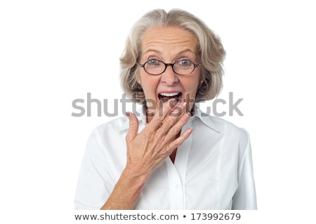 Surprised old woman Stock photo © photography33